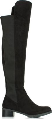 Df By Daniel , Wyedale Black Over The Knee Boot
