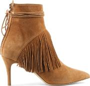 Bionda Castana , Mimi Tan Suede Fringed Ankle Boot