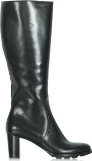 Calpierre , Black Leather Knee High Boot