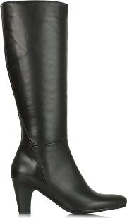 Lamica , Acimal 62 Black Leather Knee High Boot