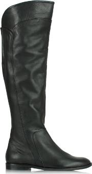 Lamica , Acimal 78 Black Leather Knee High Boot