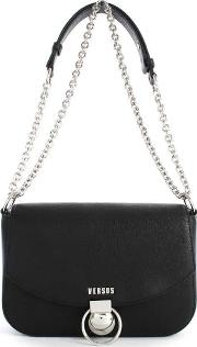 Versus Versace , Plaga Black Leather Satchel Bag