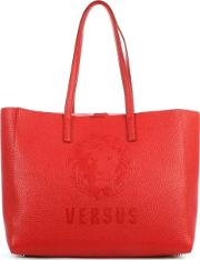 Versus Versace , Pura Red Leather Shopper Bag