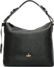 Vivienne Westwood , Balmoral Black Leather Hobo Bag