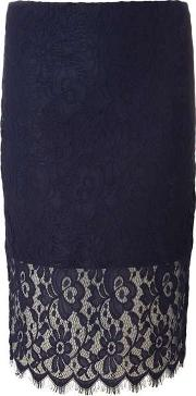 Dorothy Perkins , Womens Navy Lace Pencil Skirt