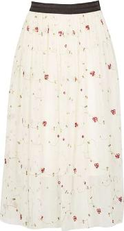 Dorothy Perkins , Womens Tenki Cream Midi Skirt