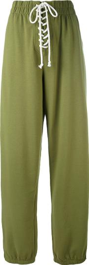 Fenty X Puma , Fenty X Puma Puma Lace Up Detail Sweatpants Women Cottonpolyesterspandexelastane Xs, Green