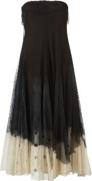 Marc Le Bihan , Dip Dye Flared Dress Women Cottonviscose 36, Black