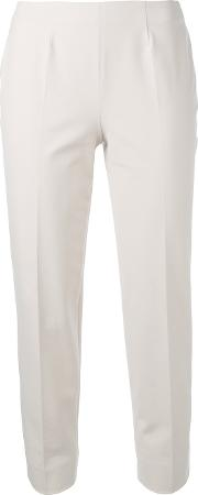 Piazza Sempione , Tailored Trousers Women Cottonspandexelastane 48, Nudeneutrals