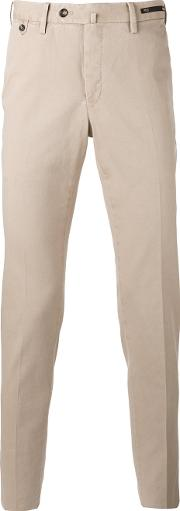 Pt01 , Chino Trousers Men Cottonspandexelastane 56, Nudeneutrals