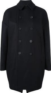 08sircus , Melton Oversized Peacoat Women Cuprowool 0, Blue