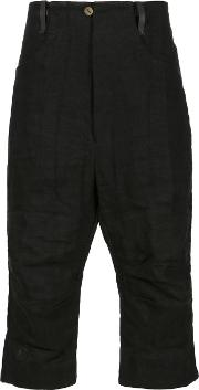 A Diciannoveventitre , Cropped Trousers Men Linenflax 52, Black