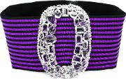 Alessandra Rich , Buckled Headband Women Cottonpolyesterspandexelastane One Size, Pinkpurple