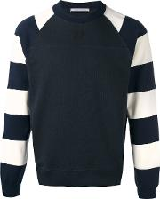 Andrea Pompilio , Striped Sleeves Jumper Men Cotton 46