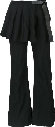 Area Di Barbara Bologna , 'blessed Kilt' Trousers Women Cottonmetal Other S, Women's, Black