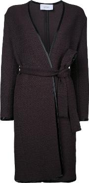 Astraet , Belted Coat Women Cotton 1, Brown