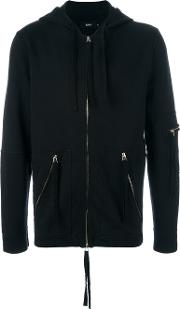Blood Brother , 'utility' Zipped Hoodie Men Cotton S, Black