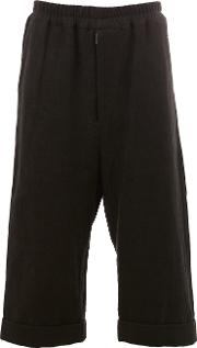 By Walid , Cropped Trousers Men Linenflax L, Black