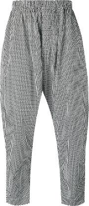 Casey Casey , Printed Cropped Trousers Men Cotton S, White