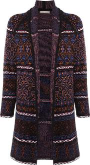Cecilia Prado , Knitted Coat Women Acryliclurexviscose M, Purple