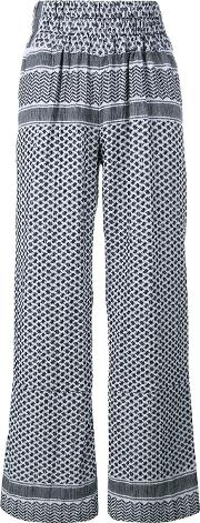 Cecilie Copenhagen , Keffiyeh Cotton Trousers Women Cotton 1, White