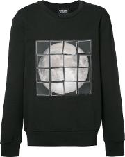 Christopher Raeburn , Patchwork Moon Sweatshirt Men Cotton L, Black