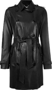 Desa Collection , Astar Double Breasted Coat Women Suede 38, Women's, Black