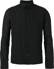 Devoa , Slim Fit Shirt Men Cottonjapanese Paper 3, Black