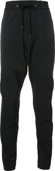 Devoa , Drawstring Trousers Men Polyesterspandexelastane 3, Black