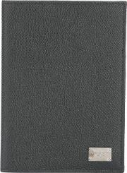 Dolce & Gabbana , Rectangular Fold Out Passport Holder Men Leather One Size