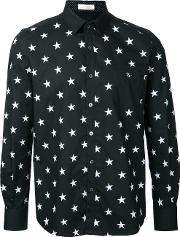 Education From Youngmachines , Stars Print Shirt Men Cotton 1, Black