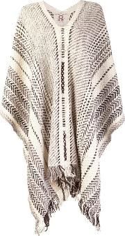 Figue , 'gabriella' Poncho Women Wool One Size, White