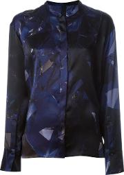 Ilaria Nistri , Geometric Print Shirt Women Silk 40, Blue