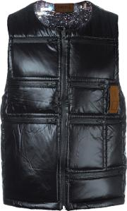 Letasca , Quilted Zipped Vest Men Nylon S