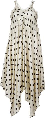 Marc Le Bihan , Polka Dot Dress Women Viscose 36, Nudeneutrals