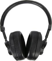 Master & Dynamic , Over The Head Headphones Unisex Calf Leathersilver Plated Metal One Size, Black