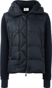 Moncler Grenoble , Padded Front Hoodie Men Feather Downpolyamidevirgin Wool L