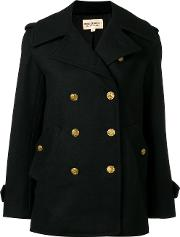 Ralph Lauren Denim & Supply , Double Breasted Peacoat Women Polyesteracetatewool L, Women's, Black