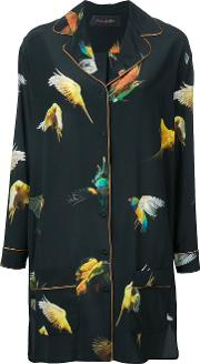 Romance Was Born , 'budgie' Pyjama Dress Women Silk 12, Women's, Black