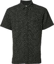 Simon Miller , Printed Shortsleeved Shirt Men Cotton 3, Black