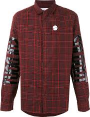 Sold Out Frvr , Printed Checked Shirt Men Cotton M, Red