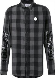 Sold Out Frvr , Sid Checked Shirt Men Cottonlinenflax L, Grey