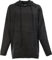 Song For The Mute , Printed Oversize Hoodie Men Cuprorayon 46, Black