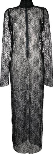 Strateas Carlucci , Funnel Lace Dress Women Polyester S