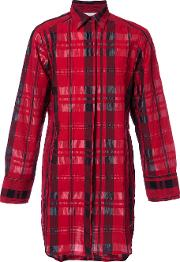 Strateas Carlucci , Remote Pocket Shirt Men Cottonlyocell L, Red