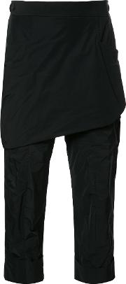 Thamanyah , Layered Cropped Trousers Men Polyester 46