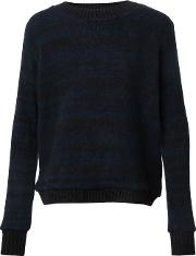 The Elder Statesman , Cashmere Striped Jumper Unisex Cashmere M, Black