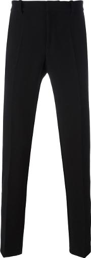 Tom Rebl , Regular Tailored Trousers Men Polyesterspandexelastaneviscose 46, Black