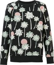 Wesc , Marvin Hawaii Sweatshirt Men Cotton S, Black