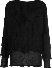 Yang Li , Distressed Jumper Women Cottonpolyamide 42, Women's, Black
